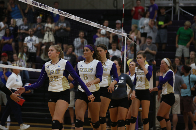 4th Volleyball Sweeps HU in Home Opener Photo