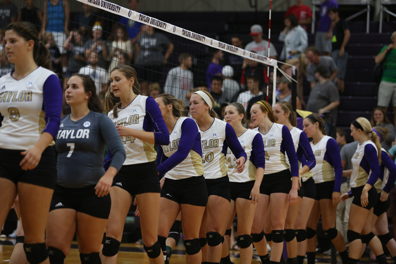 5th Volleyball Sweeps HU in Home Opener Photo