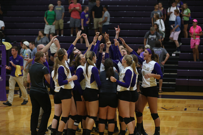 6th Volleyball Sweeps HU in Home Opener Photo