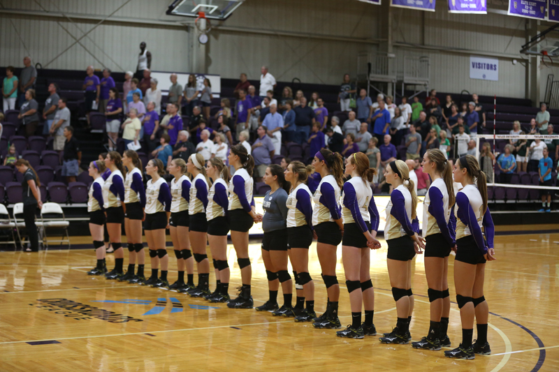 7th Volleyball Sweeps HU in Home Opener Photo