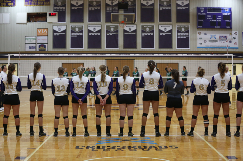 8th Volleyball Sweeps HU in Home Opener Photo