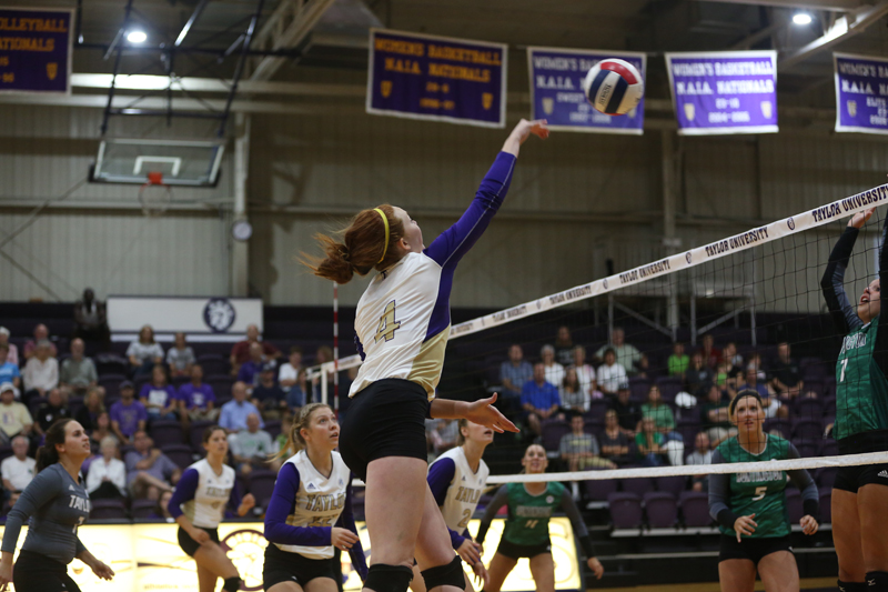 10th Volleyball Sweeps HU in Home Opener Photo
