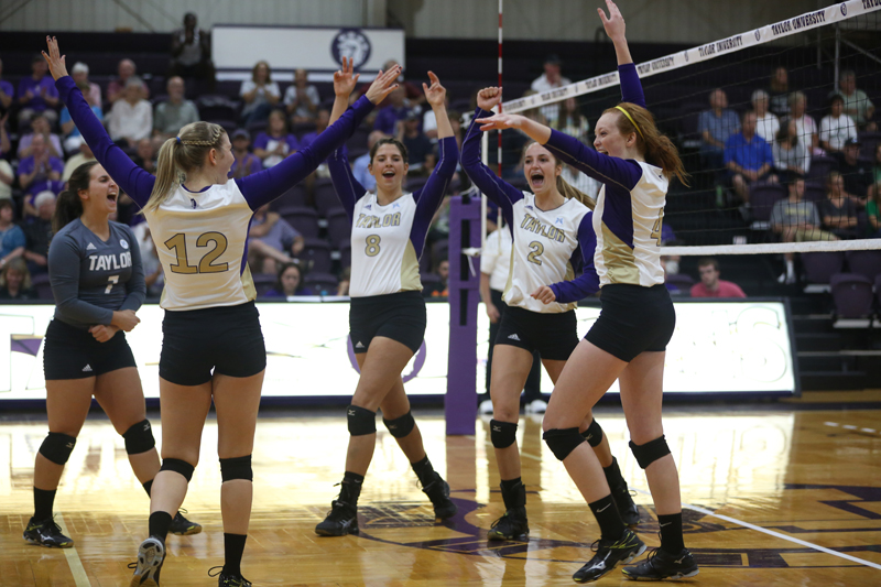 11th Volleyball Sweeps HU in Home Opener Photo