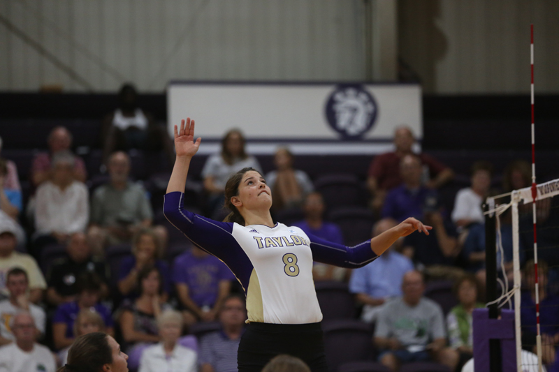 15th Volleyball Sweeps HU in Home Opener Photo