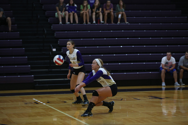 16th Volleyball Sweeps HU in Home Opener Photo