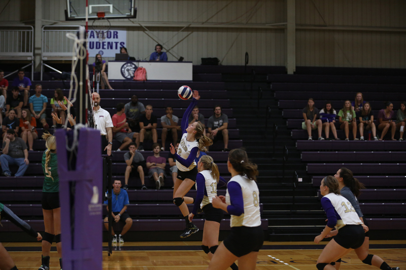 19th Volleyball Sweeps HU in Home Opener Photo