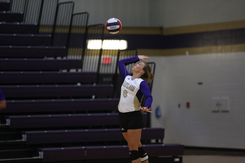 20th Volleyball Sweeps HU in Home Opener Photo