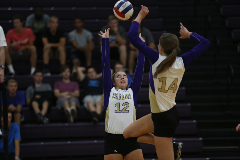 21st Volleyball Sweeps HU in Home Opener Photo