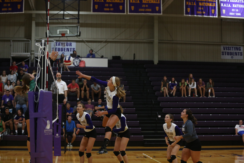 22nd Volleyball Sweeps HU in Home Opener Photo