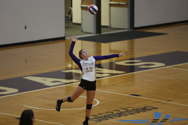 24th Volleyball Sweeps HU in Home Opener Photo