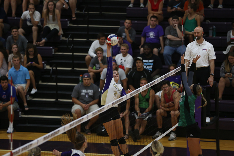 25th Volleyball Sweeps HU in Home Opener Photo