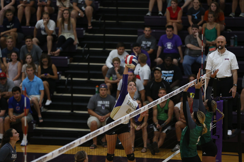 26th Volleyball Sweeps HU in Home Opener Photo