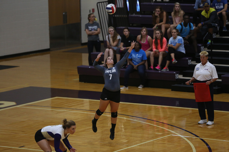 27th Volleyball Sweeps HU in Home Opener Photo