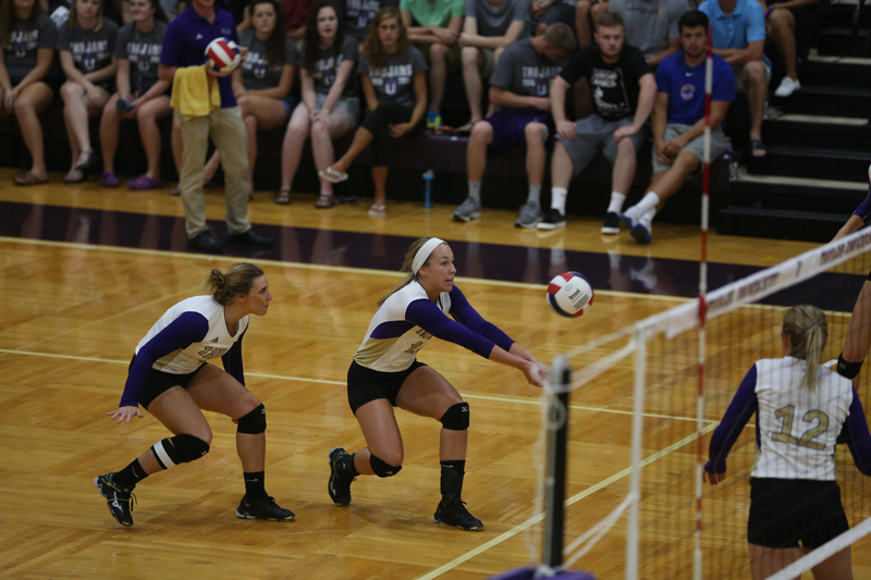 28th Volleyball Sweeps HU in Home Opener Photo