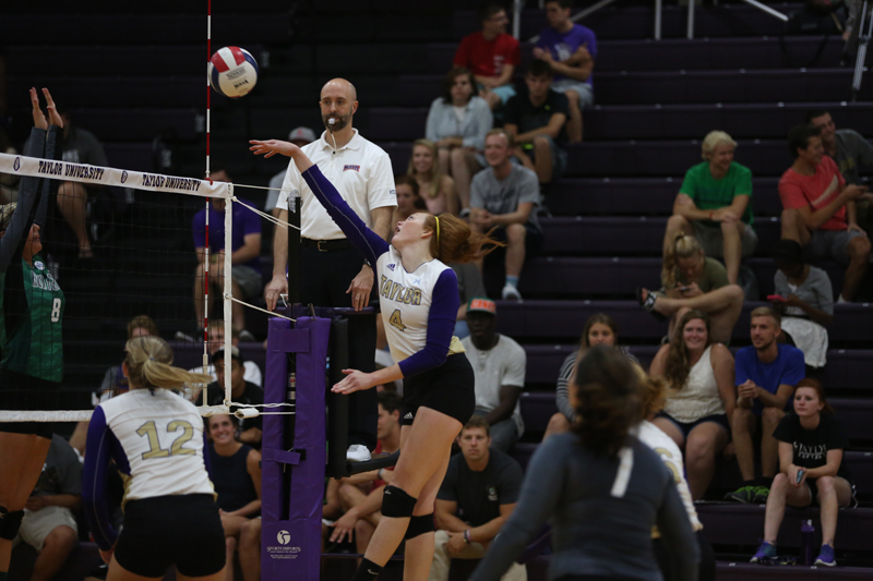 34th Volleyball Sweeps HU in Home Opener Photo