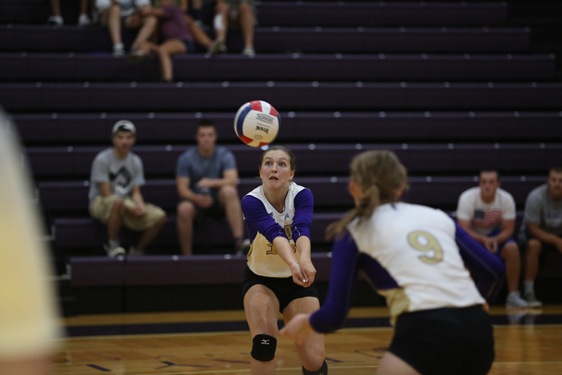37th Volleyball Sweeps HU in Home Opener Photo