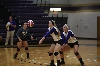 1st Volleyball Sweeps HU in Home Opener Photo