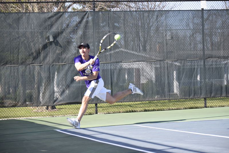 9th Men's tennis defeats Trine University Photo
