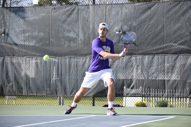 12th Men's tennis defeats Trine University Photo