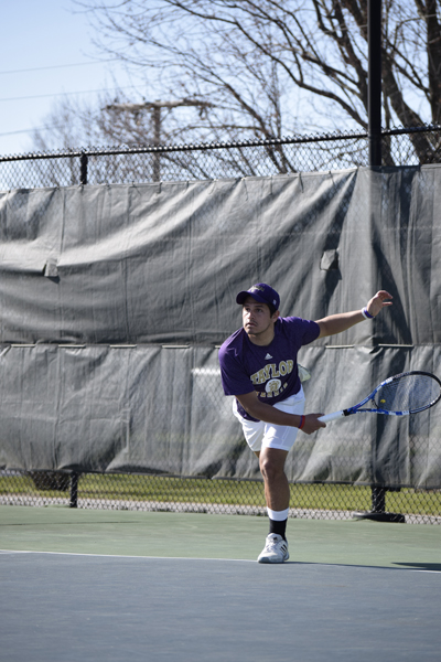 13th Men's tennis defeats Trine University Photo
