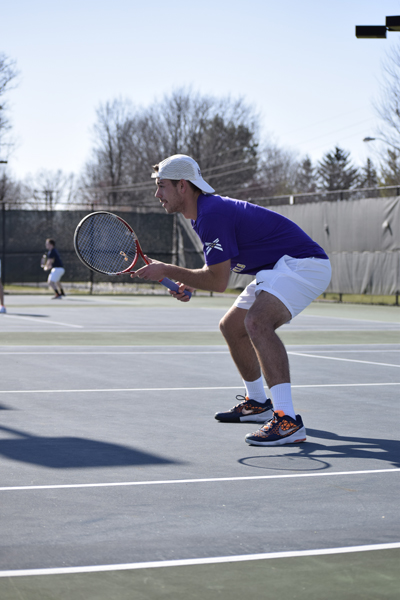 15th Men's tennis defeats Trine University Photo