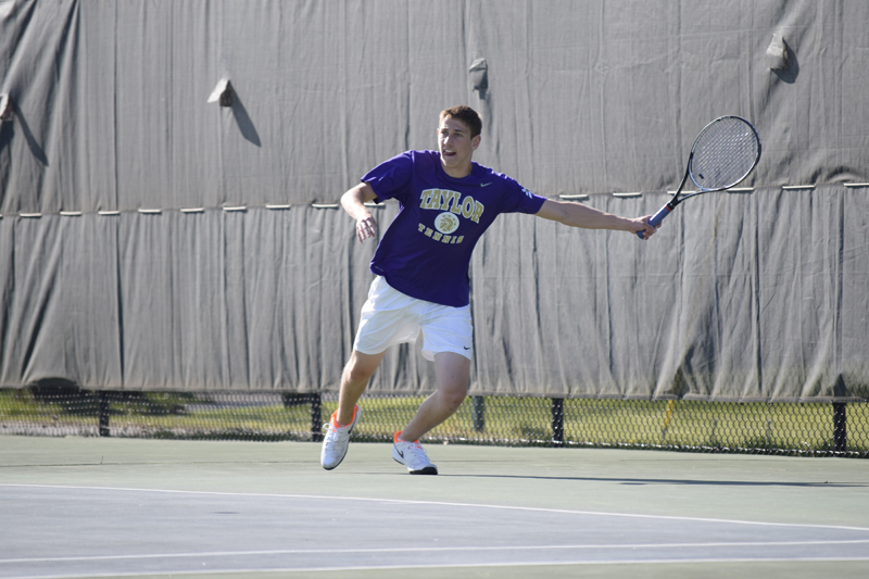 16th Men's tennis defeats Trine University Photo