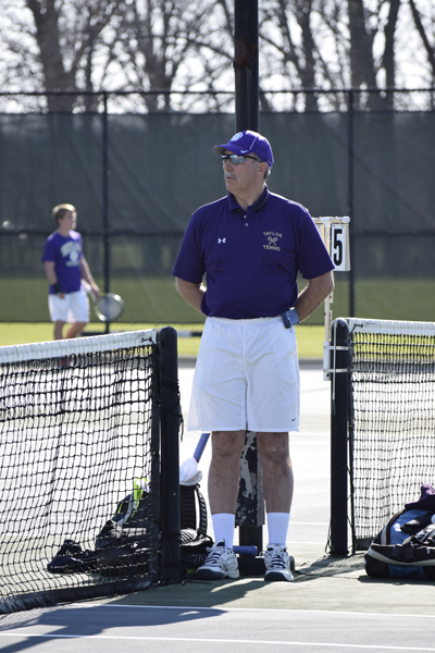 17th Men's tennis defeats Trine University Photo