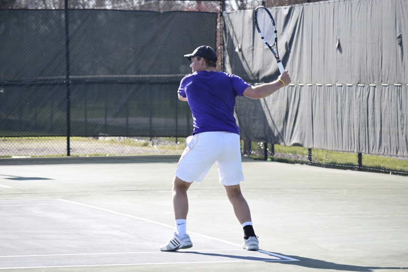 18th Men's tennis defeats Trine University Photo