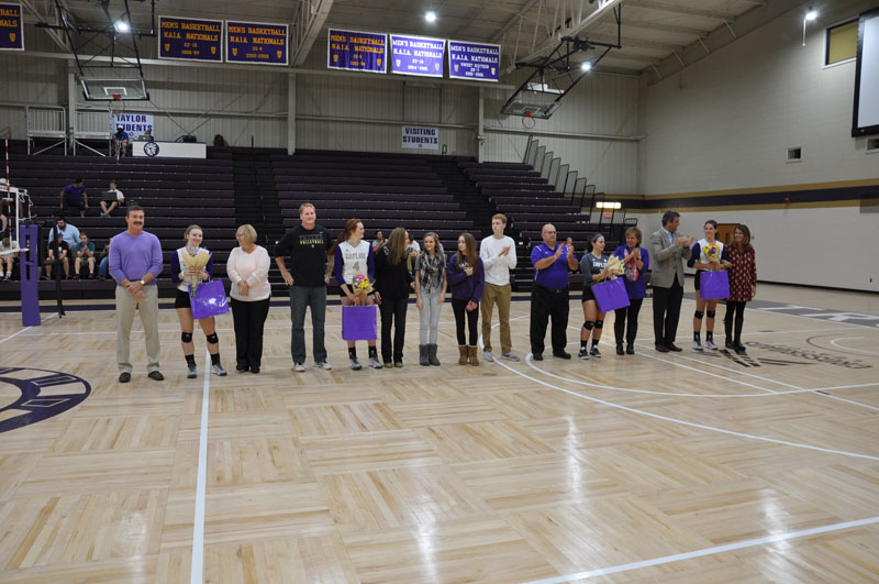 11th Volleyball Senior Night Photo