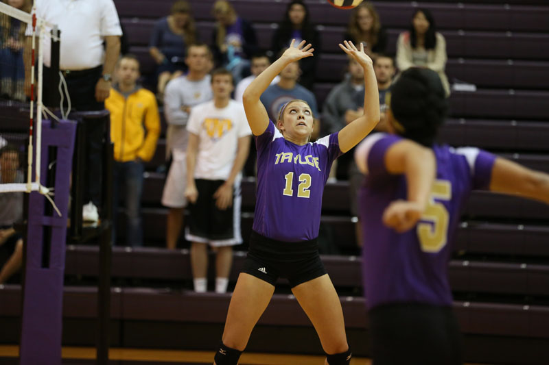 1st Volleyball Sweeps IWU Photo