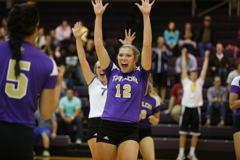 16th Volleyball Sweeps IWU Photo