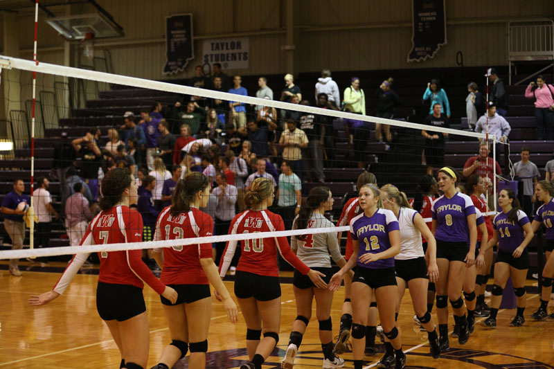 25th Volleyball Sweeps IWU Photo