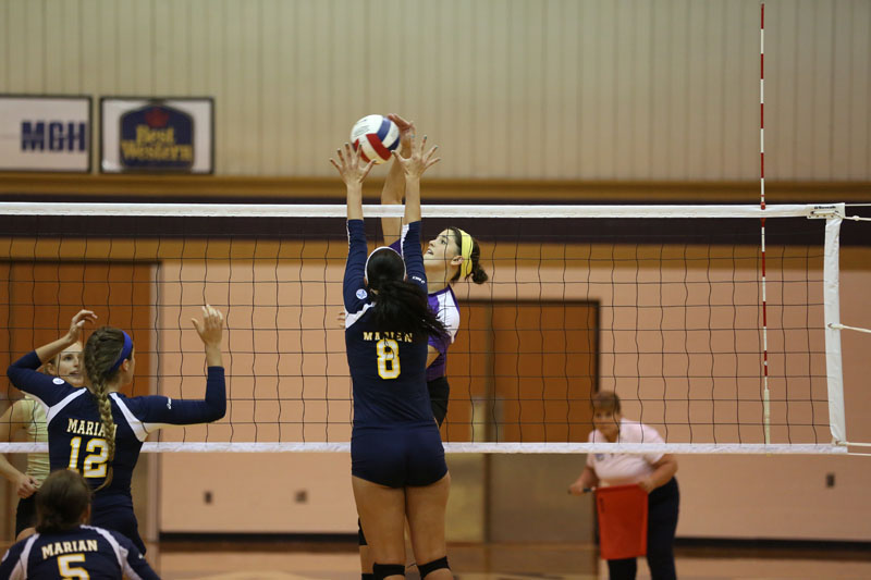 3rd Volleyball Sweeps Marian Photo