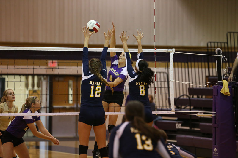 4th Volleyball Sweeps Marian Photo