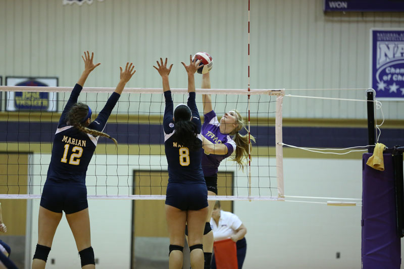 13th Volleyball Sweeps Marian Photo