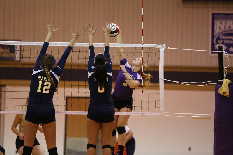 15th Volleyball Sweeps Marian Photo