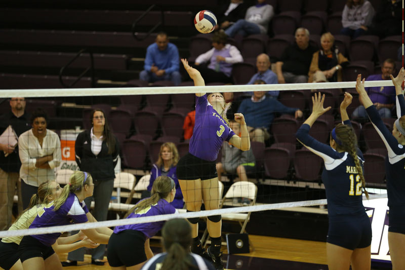 19th Volleyball Sweeps Marian Photo