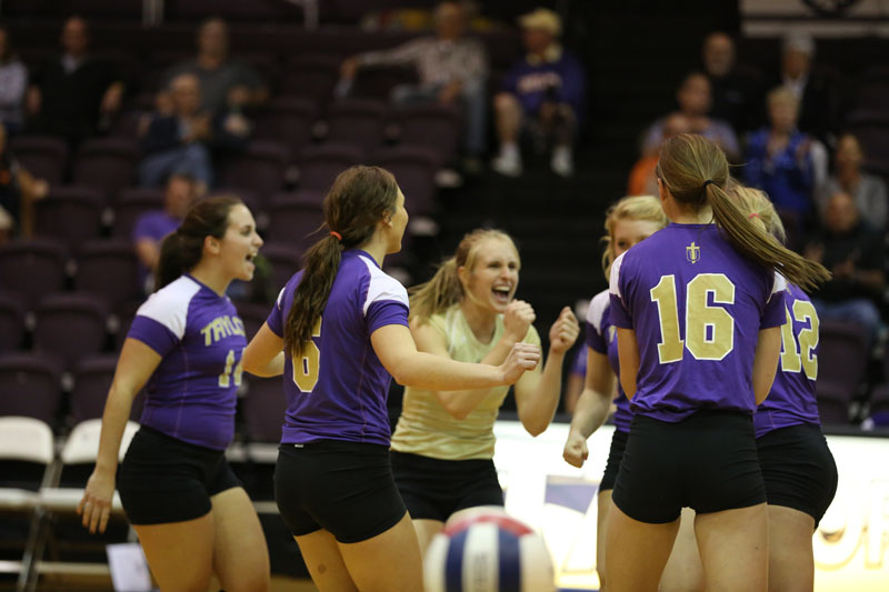 28th Volleyball Sweeps Marian Photo