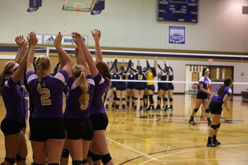 34th Volleyball Sweeps Marian Photo