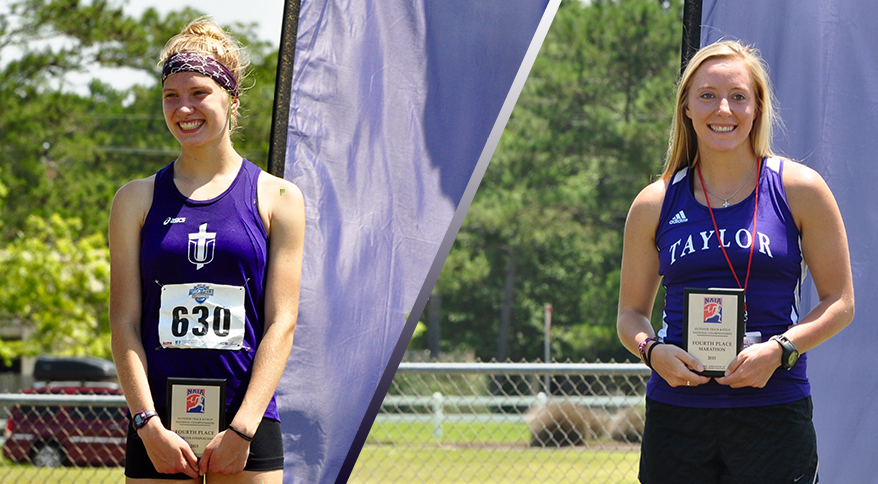 Alex Berends (L) and Allison Steinbeck (R) earned All-American honors