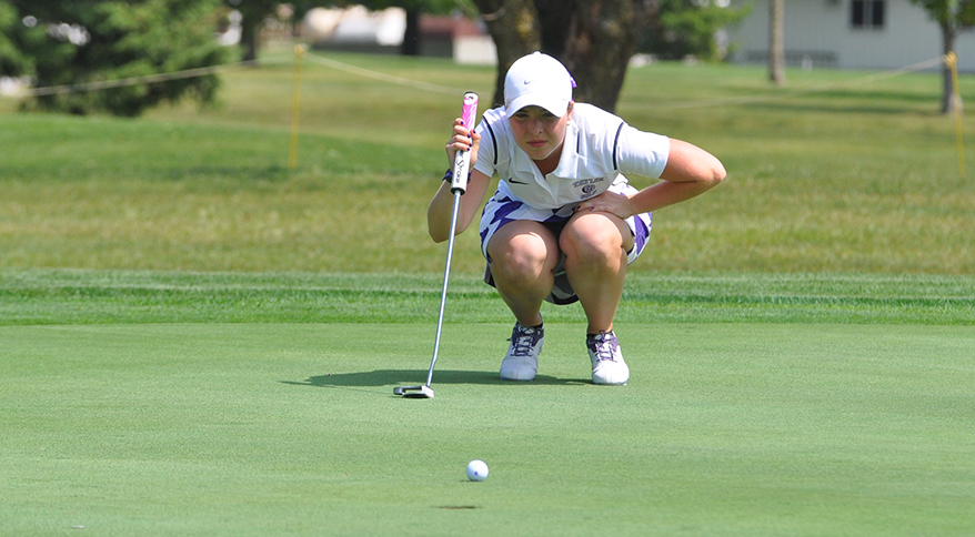 Junior Brittany Pfaff led the Trojans with an 80